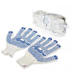 Перчатки ХБ с ПВХ покрытием, белые, 150Т/7,5 класс