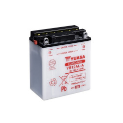 Аккумулятор YUASA YB12AL-A2 с электролитом, 12В, 12Ач