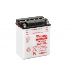 Аккумулятор YUASA YB14-A2 с электролитом, 12В, 14Ач