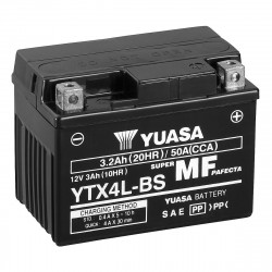 Аккумулятор YUASA YTX4L-BS, 12В, 3Ач