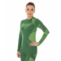 Футболка женская DRY длинный рукав зелено-лимонная