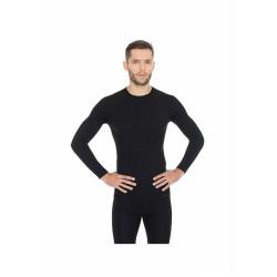 Футболка мужская черная с длинным рукавом Active Wool черная