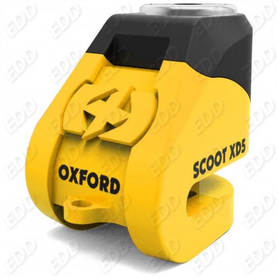 LK260 OXFORD Замок Scoot XD5 disk lock (5 mm pin) Yellow/Black