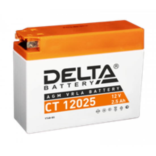 Аккумулятор DELTA CT12025, YT4B-BS, Д*Ш*В 114*39*87
