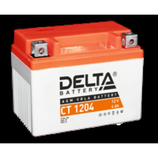 Аккумулятор DELTA CT1204, YB4L-B, YB4L-A, YTX4L-BS, Д*Ш*В 114*70*87