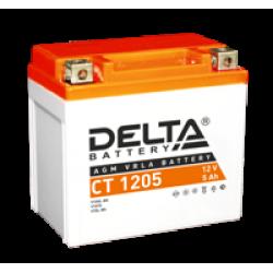 Аккумулятор DELTA CT1205, YTX5L-BS, YTZ7S, Д*Ш*В 114*70*106