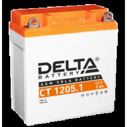 Аккумулятор DELTA CT1205.1, YB5L-B, 12N5-3B, Д*Ш*В 120*61*129