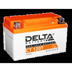 Аккумулятор DELTA CT1207, YTX7A-BS, Д*Ш*В 150*86*94