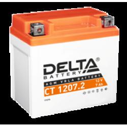 Аккумулятор DELTA CT1207.2, YTZ7S, Д*Ш*В 114*70*108