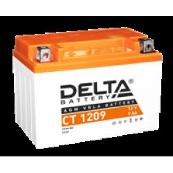 Аккумулятор DELTA CT1209, YTX9-BS, Д*Ш*В 150*86*108
