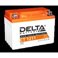 Аккумулятор DELTA CT1211, YTZ12S, YTZ14S, Д*Ш*В 151*86*112