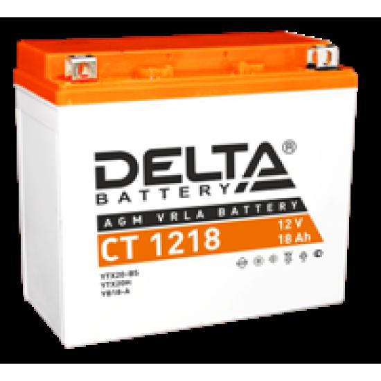 Аккумулятор DELTA CT1218, YTX20-BS, YTX20H, YB16-B-CX, YB16-B, YB18-A, Д*Ш*В 177*88*154
