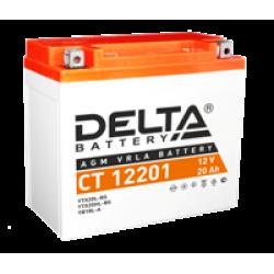 Аккумулятор DELTA CT12201, YTX20L-BS, YTX20HL-BS, YB16L-B,  YB18L-A, Д*Ш*В 177*88*154