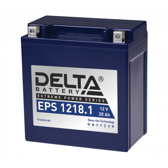 Аккумулятор DELTA EPS1218.1, YTX20СH-BS, Д*Ш*В 151*87*161