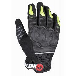 Перчатки дорожные мужские INFLAME ACTION, кожа+сетка, черные