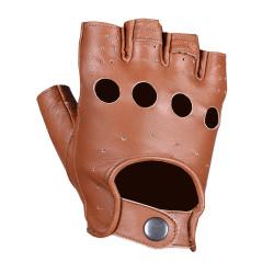 Перчатки обрезанные мужские INFLAME CHOPER, кожа, коричневые