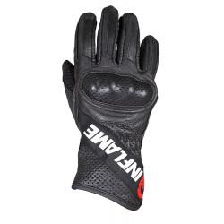 Перчатки дорожные мужские INFLAME STORM, кожа, черные