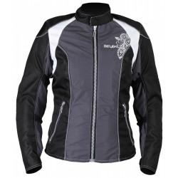 Куртка женская INFLAME ECSTASY текстиль+сетка серо-черный