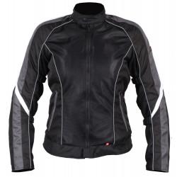 Куртка женская INFLAME GLACIAL текстиль+сетка серо-черный