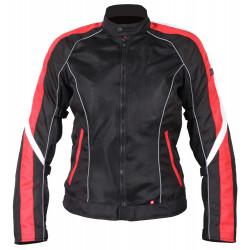 Куртка женская INFLAME GLACIAL текстиль+сетка, красно-черный