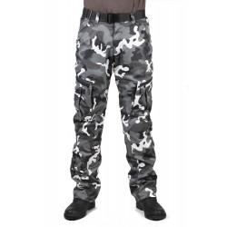 Мотоштаны мужские INFLAME TACTIC GRAY, цвет серый-камуфляж