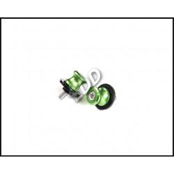 Слайдеры под подкат с болтом М8, зеленые