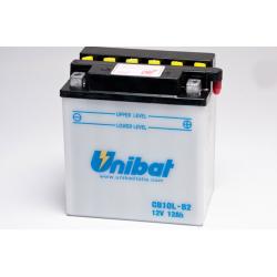 Аккумулятор UNIBAT CB10L-B2-SM (12V, 11AH, 135 X 90 X 145), АНАЛОГ YUASA YB10L-B2