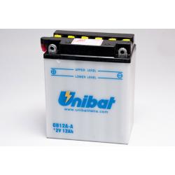 Аккумулятор UNIBAT CB12A-A-SM (12V, 12AH, 134 X 80 X 160), АНАЛОГ YUASA YB12A-A