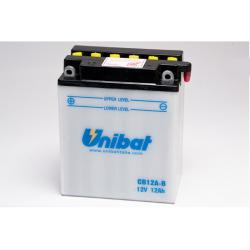 Аккумулятор UNIBAT CB12A-B-SM (12V, 12AH, 134 X 80 X 160), АНАЛОГ YUASA YB12A-B