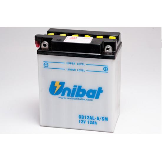 Аккумулятор UNIBAT CB12AL-A-SM (12V, 12AH, 134 X 80 X 160), АНАЛОГ YUASA YB12AL-A