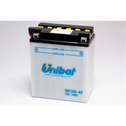 Аккумулятор UNIBAT CB12AL-A2-SM (12V, 12AH, 134 X 80 X 160), АНАЛОГ YUASA YB12AL-A2