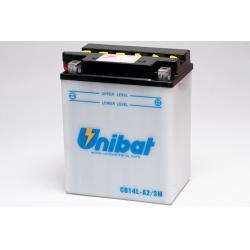 Аккумулятор UNIBAT CB14L-A2-SM (12V, 14AH, 134 X 89 X 166), АНАЛОГ YUASA YB14L-A21