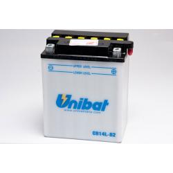 Аккумулятор UNIBAT CB14L-B2-SM (12V, 14AH, 134 X 89 X 166), АНАЛОГ YUASA YB14L-B4