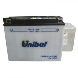 Аккумулятор UNIBAT CB16AL-A2-SM (12V, 16AH, 207 X 72 X 164), АНАЛОГ YUASA YB16-AL-A13
