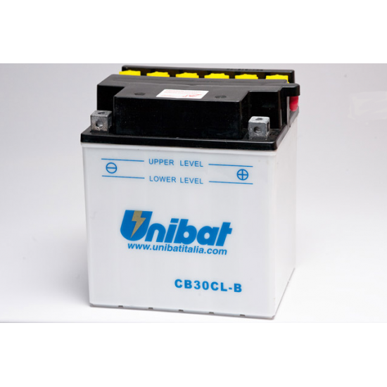 Аккумулятор UNIBAT CB30CL-B-SM (12V, 30AH, 168 X 132 X 192), АНАЛОГ YUASA YB30CL-B