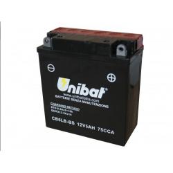 Аккумулятор UNIBAT CB5L-B-BS (12V, 5AH, 120 X 60 X 130), АНАЛОГ YUASA YB5LB