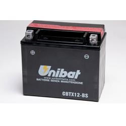 Аккумулятор UNIBAT CBTX12-BS (12V, 10AH, 150 X 87 X 130), АНАЛОГ YUASA YTX12-BS