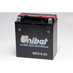 Аккумулятор UNIBAT CBTX16-BS (12V, 14AH, 150 X 87 X 161), АНАЛОГ YUASA YTX16-BS