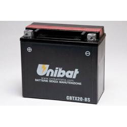 Аккумулятор UNIBAT CBTX20-BS (12V, 18AH, 175 X 87 X 155) АНАЛОГ YUASA YTX20-BS
