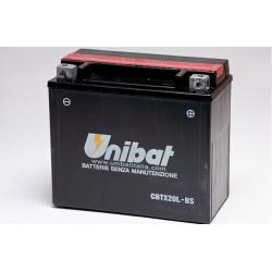 Аккумулятор UNIBAT CBTX20L-BS (12V, 18AH, 175 X 87 X 155), АНАЛОГ YUASA YTX20L-BS