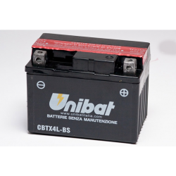 Аккумулятор UNIBAT CBTX4L-BS (12V, 3AH, 114 X 71 X 86), АНАЛОГ YUASA YT4L-BS/YTX4L-BS