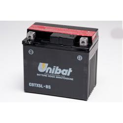 Аккумулятор UNIBAT CBTX5L-BS (12V, 4AH, 114 X 71 X 106), АНАЛОГ YUASA YT5L-BS/YTX5L-BS