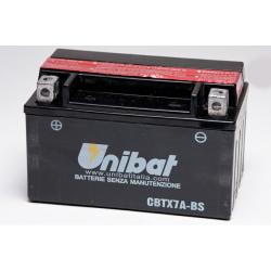 Аккумулятор UNIBAT CBTX7A-BS (12V, 6AH, 150 X 87 X 94), АНАЛОГ YUASA YTX7A-BS