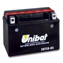 Аккумулятор UNIBAT CBTX9-BS (12V, 8AH, 150 X 87 X 105), АНАЛОГ YUASA YTX9-BS