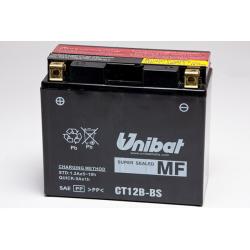 Аккумулятор UNIBAT CT12B-BS (12V, 11AH, 151 X 70 X 130), АНАЛОГ YUASA YT12B-BS