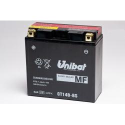 Аккумулятор UNIBAT CT14B-BS (12V, 12AH, 152 X 70 X 145), АНАЛОГ YUASA YT14B-BS
