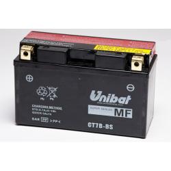 Аккумулятор UNIBAT CT7B-BS (12V, 6,5AH, 150 X 65 X 93), АНАЛОГ YUASA YT7B-BS