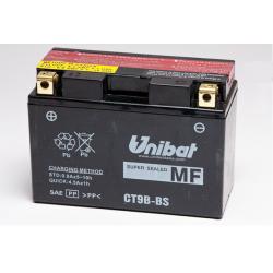 Аккумулятор UNIBAT CT9B-BS (12V, 8AH, 150 X 70 X 105), АНАЛОГ YUASA YT9B-BS