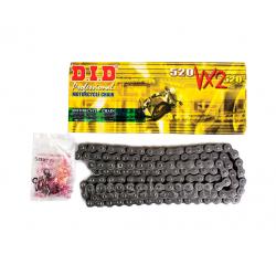 [DID] Цепь VX2 520 G&B 106 звеньев с замком-защелкой, золотая