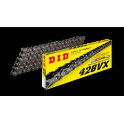 [DID] Цепь VX 428 Steel 100 звеньев с замком-защелкой, черная